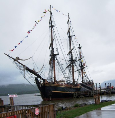 The H.M.S. Bounty in Newburgh.  Photo by George Kane.