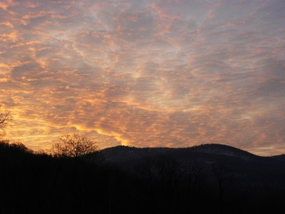 Last Sunrise of 2010 at Storm King Golf Course.