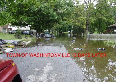 Washingtonville, 13 days after the first flooding. Photo by Linda Bates.