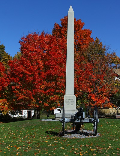 Photo by Kathy Eastwood. Cornwall Veterans Memorial in the fall