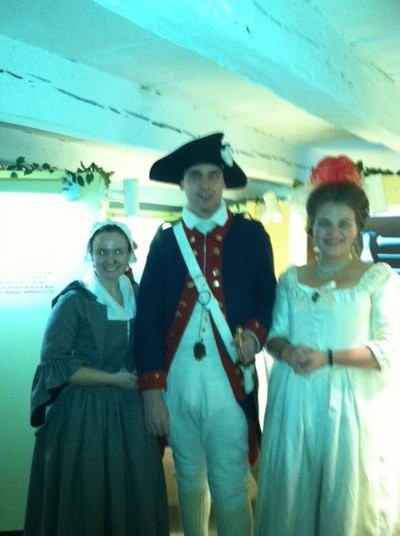 Andrea Aitken, Historical Site Assistant Chad Johnson, and Sarah Wassberg