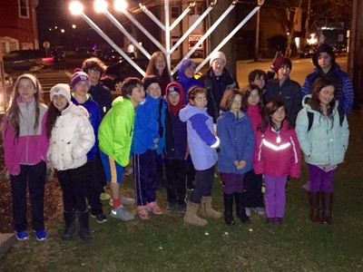Lighting of the Menorah in Cornwall-on-Hudson. Photos provided.