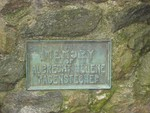 This plaque is on a stone marker in the park