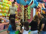 Dozens of happy people won cuddly stuffed animals.