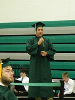 Nick Logerfo sang a song he wrote for the graduates.