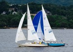 Sailboat Race in Newburgh Bay. Photo by Mike Doyle.