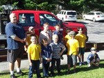 Photo by Arlene Roberts. Cub Scouts from Pack 20.