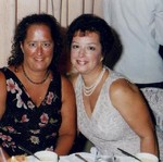 Julieann (l) and Arlene on a cruise