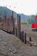 Photo by George Kane. Forge Hill Rd bridge construction 1