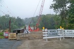 Photo by George Kane. Forge Hill Rd bridge construction 2