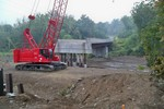 Photo by George Kane. Forge Hill Rd bridge construction 3