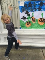Colin Steiner won 1st place for kindergartners in the Lions Club Halloween Painting Contest